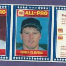 1987 Burger King Roger Clemens Will Clark Baseball Card Oddball Red Sox Giants