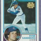 2001 Topps Archives Ryne Sandberg 1983 Rookie Reprint Chicago Cubs # 308