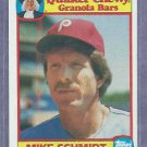 1986 Quaker Chewy Granola Mike Schmidt Philidelphia Phillies Oddball # 14