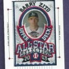 2003 Upper Deck Patch Collection All Stars Barry Zito Oakland A's Giants # 134