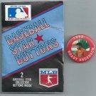 1990 Baseball Star Buttons Pin Brady Anderson Baltimore Orioles Oddball