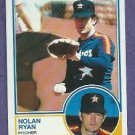 1983 Topps Nolan Ryan Astros Rangers # 360