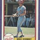 1981 Fleer Mike Schmidt Philidelphia Phillies # 5