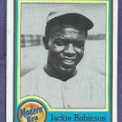 1987 Nestle All Time Dream Team Jackie Robinson Brooklyn Dodgers # 24