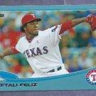 2013 Topps Baseball Walmart Blue Neftali Feliz Texas Rangers # 30