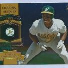 2013 Topps Baseball Chasing History Rickey Henderson Oakland A's # CH-8 GOLD FOIL VARIATION