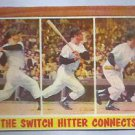 1962 Topps Mickey Mantle Switch Hitter Connects New York Yankees # 318