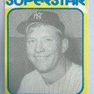 1980 Mickey Mantle Superstar Card New York Yankees Oddball # 30