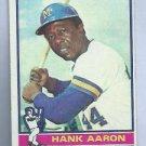 1976 Topps Hank Aaron Atlanta Braves # 550