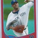 2013 Topps Baseball Target Red CC Sabathia New York Yankees # 52 Insert