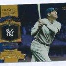 2013 Topps Baseball Chasing History Babe Ruth New York Yankees # CH-11 GOLD FOIL VARIATION
