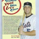 2008 Topps Students Work Harder Get Cards David Wright New York Mets Oddball