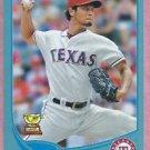 2013 Topps Baseball Wal Mart Blue Yu Darvish Texas Rangers # 11 Rookie