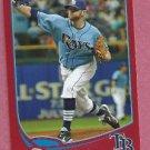 2013 Topps Baseball Target Red Wade Davis Tampa Bay Rays # 140