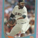 2013 Topps Baseball Walmart Blue Sergio Romo San Francisco Giants # 154