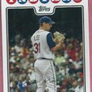 2008 Topps Baseball Cliff Lee Cleveland Indians # 317 Phillies
