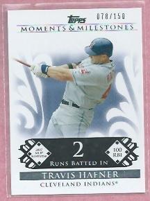 2008 Topps Moments & Milestones Travis Hafner Cleveland Indians # 34  /150