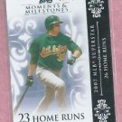 2008 Topps Moments & Milestones Jack Cust Oakland A's # 89   97/150