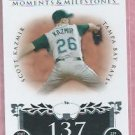 2008 Topps Moments & Milestones Scott Zazmir Tampa Bay Rays # 107    98/150