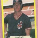 1987 Classic Games Yellow Cory Snyrder Cleveland Indians # 110