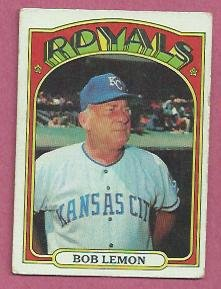 1972 Topps Bob Lemon Kansas City Royals # 449 VG