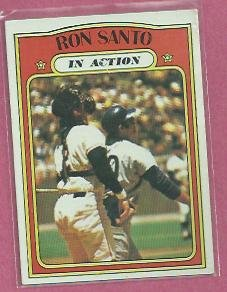 1972 Topps Ron Santo In Action Chicago Cubs # 556 VG