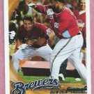 2010 Topps Checklist Brew Crew Prince Fielder Ryan Braun Brewers # 237