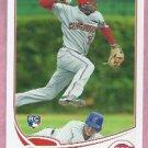 2013 Topps Baseball Didi Gregorius Cincinnati Reds Yankees # 296 Rookie
