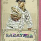 2013 Topps Baseball Calling Card CC Sabathia New York Yankees # CC-8