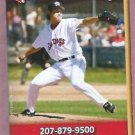 2010 Portland Sea Dogs Pocket Schedule Red Sox