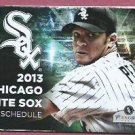2013 Chicago White Sox Pocket Schedule Jake Peavy