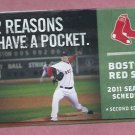 2011 Boston Red Sox Pocket Schedule Second Edition