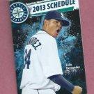 2013 Seattle Mariners Pocket Schedule Felix Hernandez