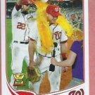 2013 Topps Baseball Series 2 Steve Lombardozzi Washington Nationals # 568 Rookie