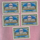 Lot Of 5 2013 Topps Series 2 Million Dollar Chase Cards Unredeemed