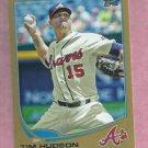 2013 Topps Baseball Series 2 Tim Hudson GOLD Atlanta Braves # 448 / 2013