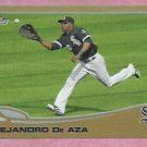 2013 Topps Baseball Series 2 Alejandro De Aza Gold Chicago White Sox # 583 / 2013