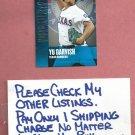 2013 Topps Chasing The Dream Yu Darvish Texas Rangers # CD-19