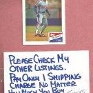 1988 Bazooka Tim Raines Montreal Expos # 15 Oddball