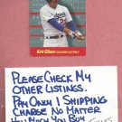 1989 Fleer For The Record Kirk Gibson Dodgers Tigers Diamondbacks # 4