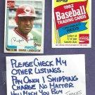 1982 Topps Coke Rafael Landestoy Cincinnati Reds Oddball # 13