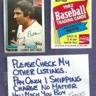 1982 Topps Coke Larry Biittner Cincinnati Reds Oddball # 3