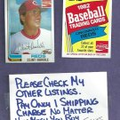 1982 Topps Coke Clint Hurdle Cincinnati Reds Oddball # 10