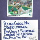 2013 Topps Sean Doolittle Oakland A's # 85 Rookie