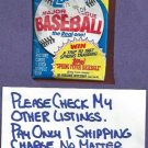 1986 Topps Baseball Cards Unopened  WaxPack