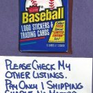 1988 Fleer Baseball Cards Unopened Pack