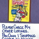 1989 Swell Baseball Greats Unopened Wax Pack Cards
