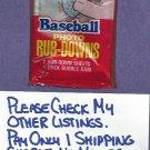 1984 Topps Baseball Rub Downs Unopened Pack