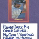 1989 Classic Games Don Mattingly New York Yankees Dodgers # 106 Oddball
