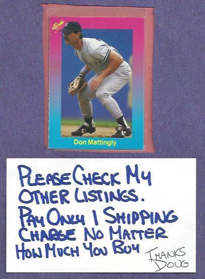 1989 Classic Games Light Blue Don Mattingly New York Yankees Oddball # 5